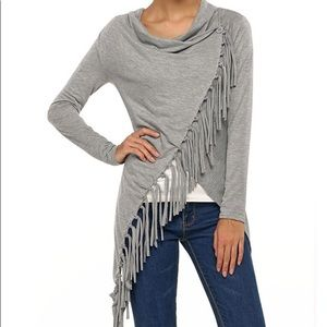 Grey Fringe Cover Up, Layer 8